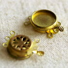12mm 16mm Solid Brass 3-Strand Clasp Cabochon Setting Base Finding m78 PICK