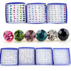 20 Pairs/Set Fashion Crystal Cute Ear Stud Earrings Women Jewelry New Year Gift image