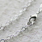 Sterling Silver Plated Brass Cable Chain Silver Necklace 3mm cn109