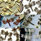 70 Solid Brass Filigree Dragonfly Embellishment Charms Finding 14.5mm b11 PICK