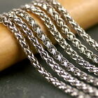 4ft Sterling Silver Plated White Gold Plated Wheat Rope Chain 3.5mm c204s