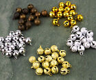 Brass Jingle Bells Gold Silver Charm Bead Christmas Bell 6mm 8mm 10mm 12mm 16mm