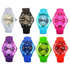 HOT UNISEX GEL SILICONE RUBBER JELLY WITH DATE & DAY WRIST WATCH FOR BOYS GIRLS