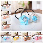 Women's Girl Sweet Flowers Ponytail Holder Elastic Hair Band Hair Rope Headwear