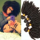 100% Unprocessed Mongolian 3 bundles/300g human hair extension afro kinky curly