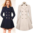 ON SALE!! Fashion Womens Winter Long Double Breasted Trench Coat Jacket Overcoat