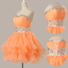 Quinceanera Beaded Homecoming Prom Gown Cocktail Short Mini Party Evening Dress
