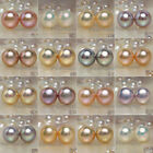 Freshwater Genuine Rare color pearl earrings 14k Gold stud