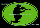 VRS OVAL Military Sniper Rifle Scope American Hero CAR DECAL VINYL STICKER