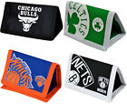 NBA: Tri Fold Canvas Wallet New & Official NBA Bulls/Nets/Knicks/Celtics