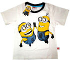 New MINIONS short sleeve white summer cotton t-shirt S-XL Age 4-7 yrs Free Ship