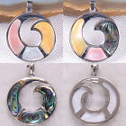 New Free Shipping Natural Multi-Color Abalone Pearl Shell Beads Pendant 1Pcs