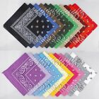 Cotton Blend Paisley Bandanas Double Sided Head Wrap Scarf Wristband 23 Colors