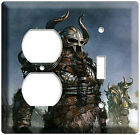 WARRIORS VIKINGS LIGHT SWITCH OUTLET COVER WALL PLATE MAN CAVE GAME ROOM DECOR
