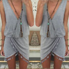 Sexy Women Summer Casual Sleeveless Party Evening Mini Dress Beach Dress XS-XL