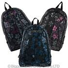 NEW Ladies Girl Floral BACKPACK RUCKSACK Bag by Jeep Padded Straps School Travel
