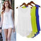Women Summer Loose Casual Chiffon Sleeveless Vest Shirt Top Blouse Ladies Tops