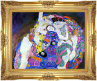 Framed Canvas Giclee Art Nouveau Gustav Klimt The Virgin Painting Reproduction