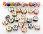 Wholesale 50x 100x Lots Mix Acrylic Beads For European Charm Bracelet ZH09