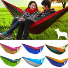 Outdoor Travel Camping Hanging Swing Bed Nylon Fabric Parachute Double Hammock
