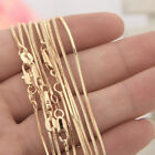 """Hot Wholesale 18K Gold Filled On Snake Chain Necklace Jewellery 16-30"""" Gift"""
