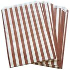 BROWN CANDY STRIPE - SWEET FAVOUR BUFFET PAPER BAGS - 7x9 INCHES - SELECT AMOUNT