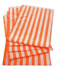 ORANGE CANDY STRIPE - SWEET FAVOUR BUFFET PAPER BAGS - 7x9 INCHES -SELECT AMOUNT