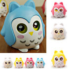 Piggy Bank - Owl Money Box for Coins & Cash - Novelty Childrens Saving Bank Blue