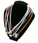 12 NEW Wholesale Crystal Mesh Necklaces / Bracelets with Crystal Magnetic Ball