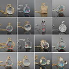 Charm Living Memory Charm Floating Crystal Long Chain Necklace Pendant