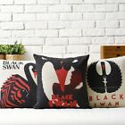 Movie Poster Black Swan Sofa Decor Cushion Cover Pillow Case Square Linen 17""