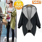 Women Casual Jacket Coat Overcoat Casual Slim Fit Trench  Hoodies Parka long