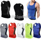 Mens Compression Sports Slim Fit Tight Shirt Fitness GYM Workout Base Layer Top