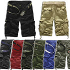 Men Army Military Cargo Loose Combat Camo Camouflage Overall Shorts Sports Pants