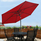 8ft Patio Umbrella Crank Tilt Table Garden Sunshade Deck Market Outdoor Parasol