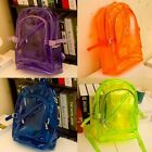 Unisex Women Transparent Plastic Girl Backpack School Bag Satchel Shoulder bag-Z
