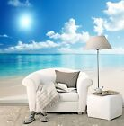 3D Blue Sky & White Clouds Wall Paper Wall Print Decal  Indoor wall Mural