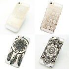 Carved Plastic Case Transparent Hard Case New Back Case Cover For iPhone 5 5S/5C