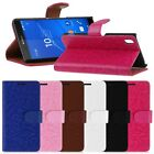 Luxury PU Leather Wallet Card Holder Flip Cover Stand Case For Sony Xperia Z4