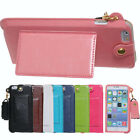 Style L window long belt Stand Pouch leather Case Cover for iPhone 6 Plus 5.5""