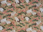 MANDOLIN - JAPANESE ASIAN INSPIRED CRANES ON GOLD 100% cotton patchwork fabric