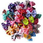 Hot Mix Styles Bows Pet Hair Clips Dog Hair Bows Dog Grooming Hair Accessories