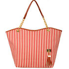 2015 women's canvas stripe colorful message handbag