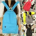 Unisex Girl Retro Canvas Candy Color Travel Satchel Shoulder School Bag Backpack