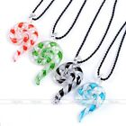 Murano Lampwork Pendant Spiral Snail Hook Rope Necklace Earrings Jewelry Set Hot