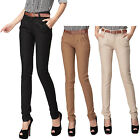 Chino Trousers Hose Damen Winter Office Stoffhose Chinohose Denim pants 38-32
