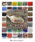 11/0 Czech Glass Seed Beads 10-Grams Choose Color