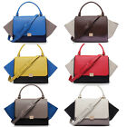 Real Leather women shoulder bag bat style handbag Tote Hobo Messenger Bags Gift