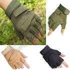 Outdoor Half Finger Gloves Military Tactical Airsoft Hunting Riding Cycling M-XL