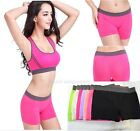 Hot Summer Women Sports Gym Workout Waistband Skinny Yoga Shorts Pure Pants Sexy